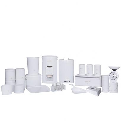 سرویس جهیزیه 27 پارچه سفید براق در پلیمری