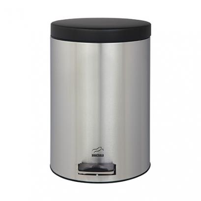 سطل زباله پدالدار 6 لیتری استیل مشکی