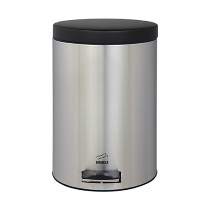 سطل زباله پدالدار 14 لیتری سایلنت استیل مشکی