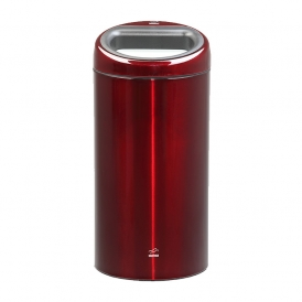 سطل زباله 45 لیتری اسلش استیل قرمز ترنس پرنت