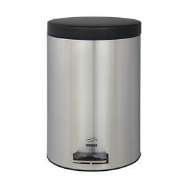 سطل زباله پدالدار 6 لیتری سطل زباله پدالدار 6 لیتری استیل مشکی