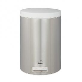 سطل زباله پدالدار 14 لیتری استیل در سفید