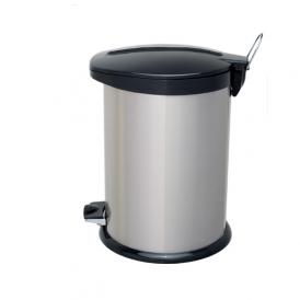 سطل زباله پدالدار 14 لیتری استیل مشکی درپلیمری