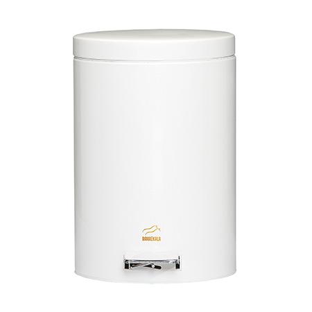 سطل زباله پدالدار 14 لیتری سایلنت سفید