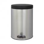 سطل  پدالدار6 لیتری استیل مشکی در فلزی